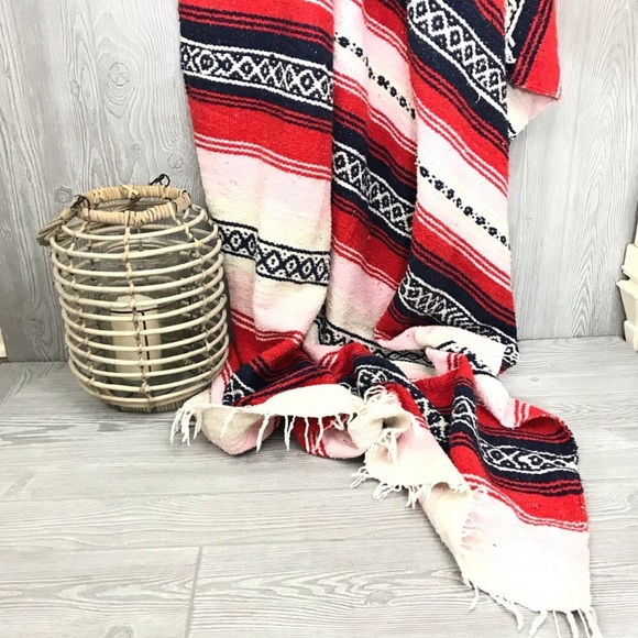 Other - Mexican inspired woven throw blanket